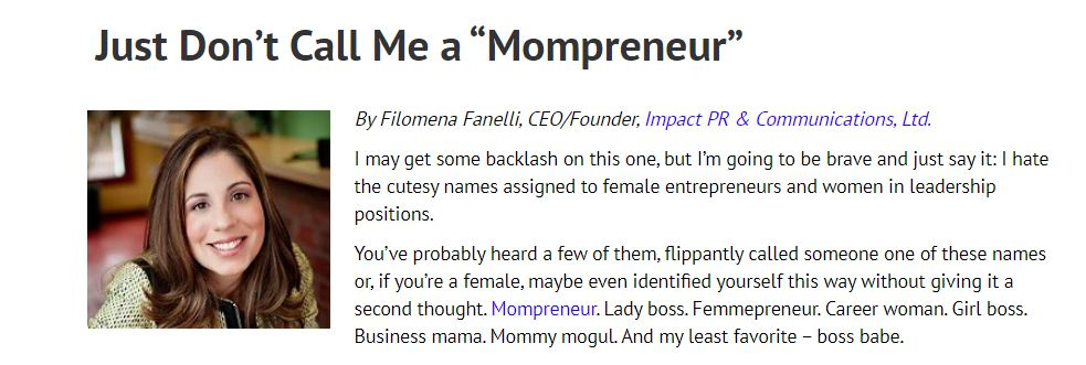 filomena fanelli dont call me mompreneur